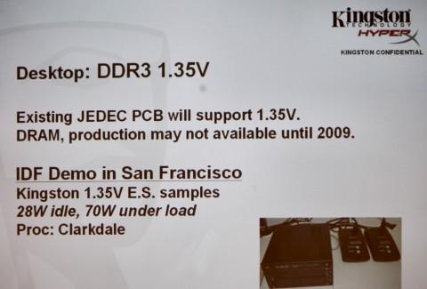 Kingston zeigt DDR3-Module mit 1,35 Volt.