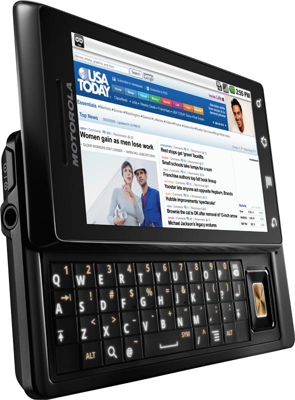 Motorola Droid: Android-Smartphone mit ausziehbarer Tastatur - Motorola Droid