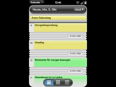 WebOS-Kalender ...