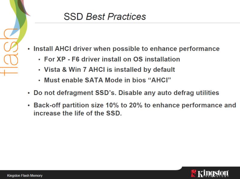 Test: Kingstons halbe Intel-SSD für unter 100 Euro  - Defragmentieren und Caches nicht auf SSDs