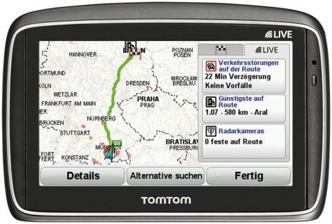 Tomtom Go 950 Live - Routenübersicht