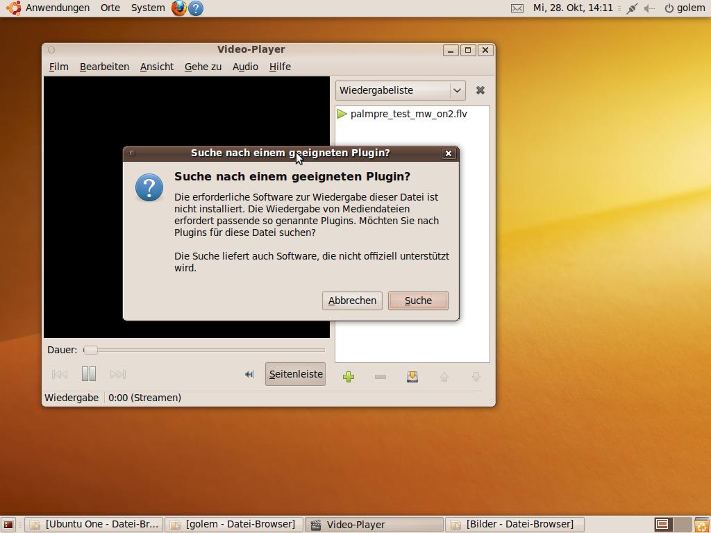 Test: Ubuntu 9.10 mit grundlegenden Veränderungen - Vorbildlich ist auch das Angebot, fehlende Codecs nachzuinstallieren.