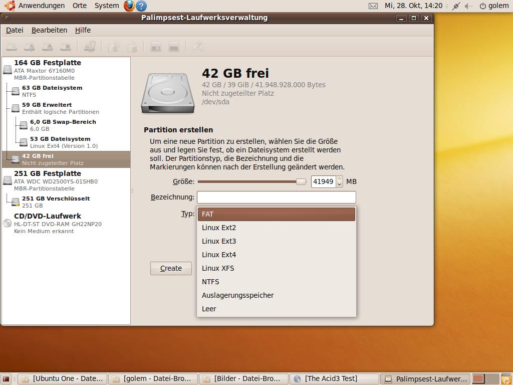 Test: Ubuntu 9.10 mit grundlegenden Veränderungen -