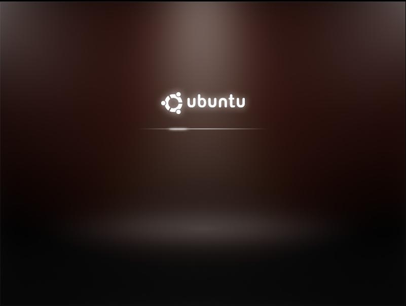Test: Ubuntu 9.10 mit grundlegenden Veränderungen - Xsplash ersetzt das bisher auf Usplash basierte Startlogo.