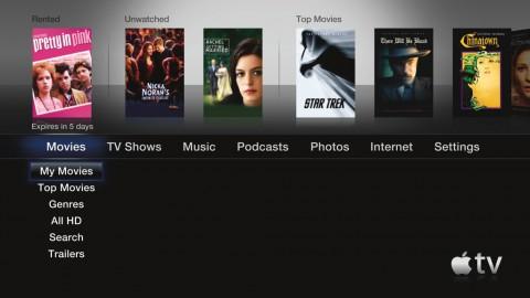 Apple TV - Oberfläche