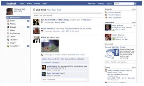 Facebook-Roadmap: Anwendungen sind künftig links oben und prominent mit zwei Dashboards, Countern und Bookmarks vertreten.