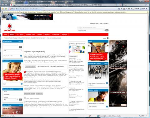 Vodafone-Shop - Active-X-DRM-Plug-in trotz MP3 und Fehlermeldung trotz aktueller Software