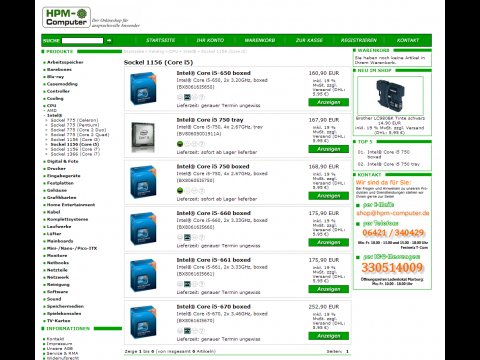 Erste Preise für Core i5 und i3