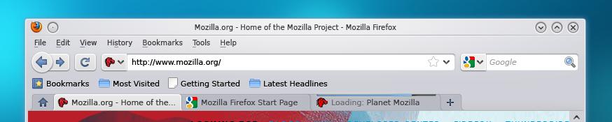 Neues Outfit für Firefox unter Linux -