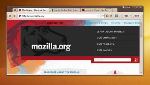 Ideenskizze für Firefox 4.0 unter Linux