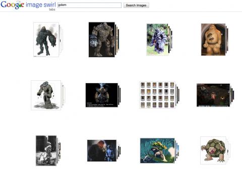 """Google Image Swirl - Suche nach """"Golem"""""""