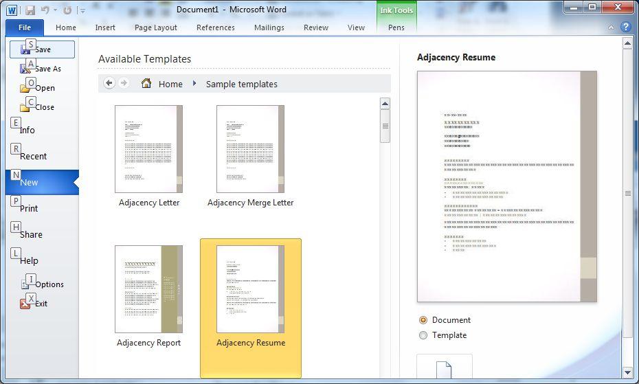 Google vs. Microsoft: Wer braucht Office 2010? - Vorlagen