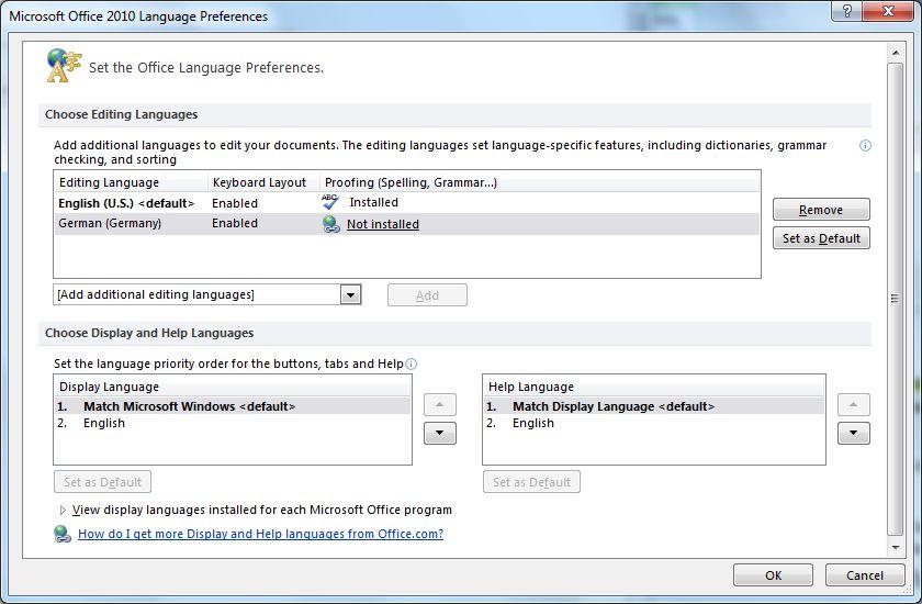Google vs. Microsoft: Wer braucht Office 2010? - Spracheinstellungen. Deutsche Rechtschreibkorrektur fehlt bei der englischsprachigen Beta, ...