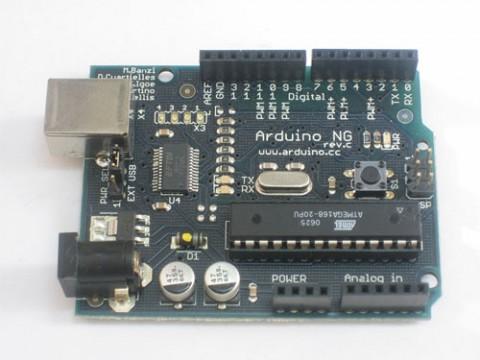 Ein Arduino NG (Nuova Generazione) mit ATmega168-Microcontroller