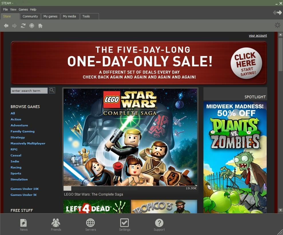 IMHO: Warum Gamesload keinen Spaß macht - Steam-Client