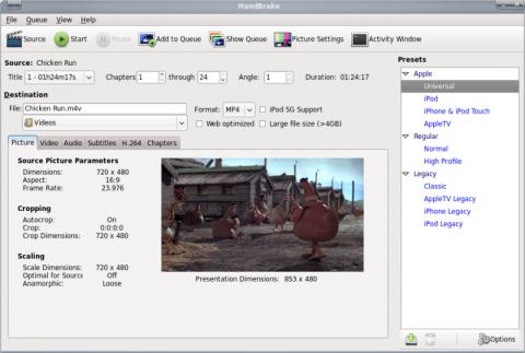 Handbrake 0.9.4 unter Linux