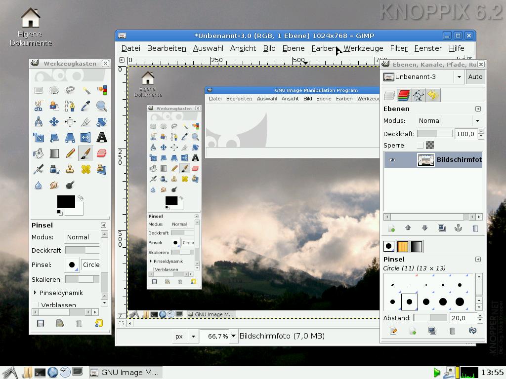 Knoppix 6.2 erschienen - Gimp