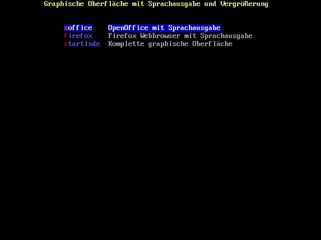 Knoppix 6.2 erschienen - Grafische Programme mit Sprachausgabe unter Adriane