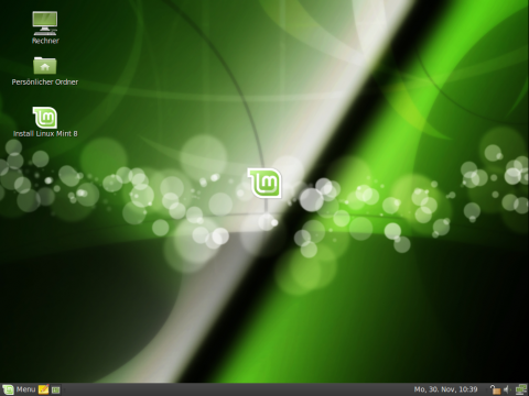 Mint-Desktop mit eigenem Theme