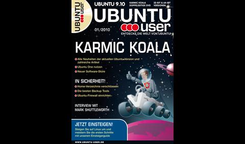 Die erste Ausgabe der Zeitschrift Ubuntu User