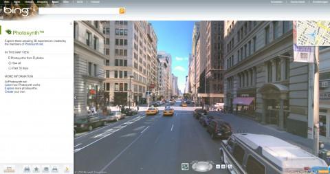 Bing Maps Street 3D Streetside