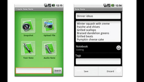 Evernote für Android