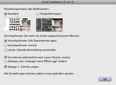 Graphicconverter 6.6 - Startdialog