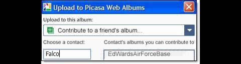 Picasa 3.6 - Upload in ein fremdes Webalbum