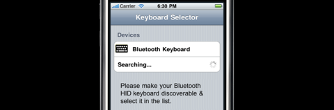 BTstack Keyboard: Bluetooth-Verbindung zur Tastatur