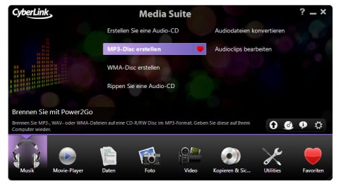 Cyberlink Media Suite 8 - der neue Launcher