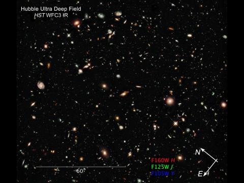 Hubble hat im Sternbild Fornax uralte Galaxien fotografiert. (Foto: NASA)