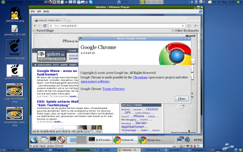 Parted Magic mit Googles Webbrowser Chrome