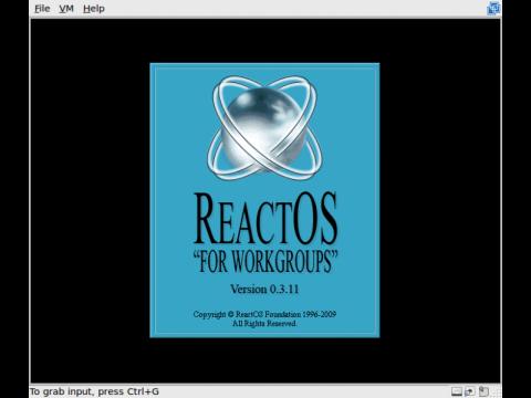 Startbildschirm der neuen Version mit Windows 3.11 Charme