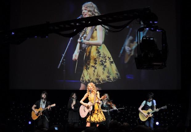 Taylor Swift live und als 3D-Übertragung