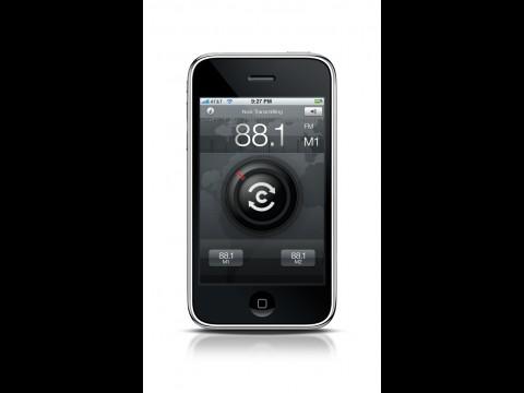 Belkin Tunecast Auto Live - Anwendung auf dem iPhone 3 GS