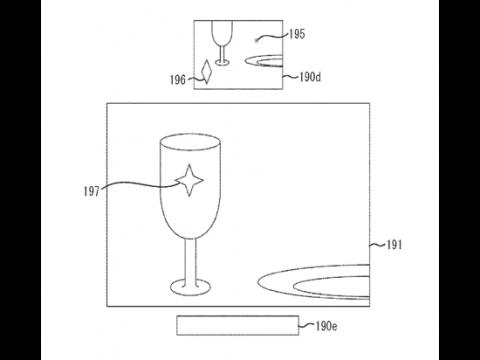 Auszug aus Canons Patentantrag zum Hybridsucher. Oben die elektronische und unten die optische Sucheransicht.