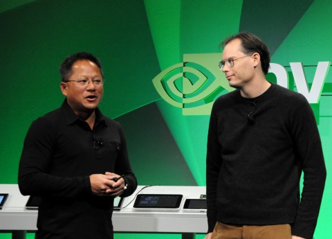 Nvidia-Chef Jen-Hsun Huang (links) und Epic-CEO Tim Sweeney
