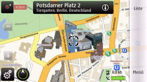 Ovi Maps mit 3D-Modellen