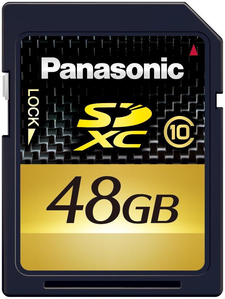 Panasonic: SDXC mit 64 GByte ab Februar 2010 - RP-SDW48G - SDXC-Karte mit 48 GByte von Panasonic