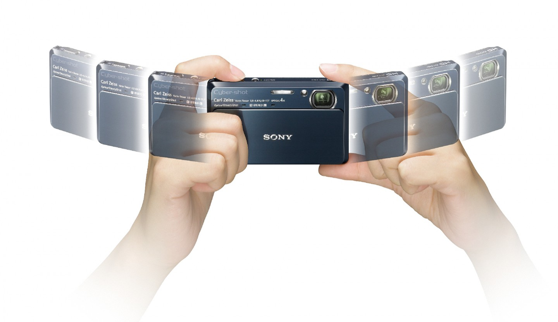 Sony-Kompaktkamera mit GPS, Kompass und Panoramafunktion - Cybershot DSC-TX7