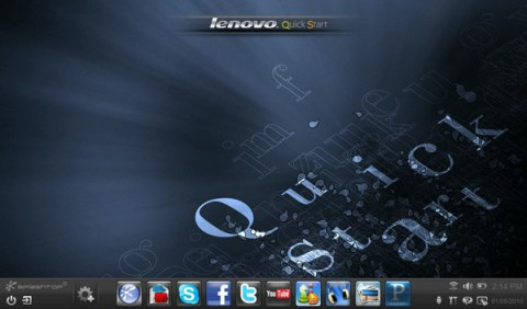 Lenovo Quickstart auf Basis von Splashtop 2.0