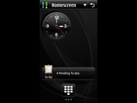 Symbian 4 - Startbildschirm