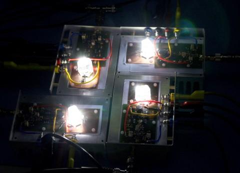 Ostar-LED überträgt Daten mit sichtbarem Licht und erreicht dabei bis zu 500 MBit/s.