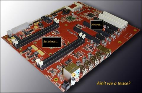 AmigaOne X1000 - Vorschau auf das Mainboard