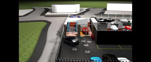 3D-Rekonstruktion eines Tatorts (Bild: SPSA)