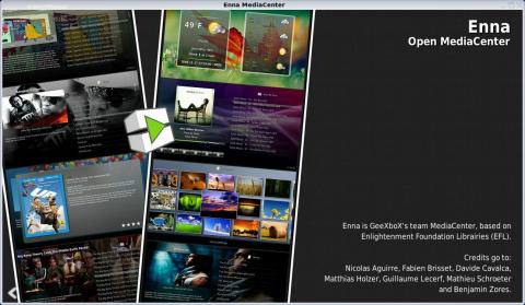 Die neue Oberfläche für Geexbox basiert auf Bibliotheken aus dem Enlightenment-Projekt.