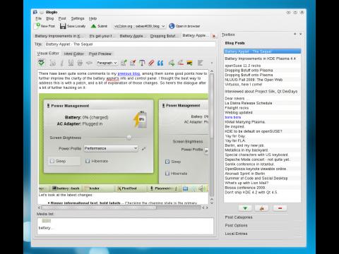 Der neue Bloggingclient Blogilo unter KDE SC 4.4