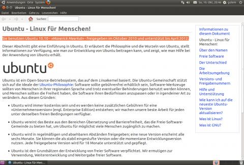 Ubuntu 10.10 alias Meverick Meerkat