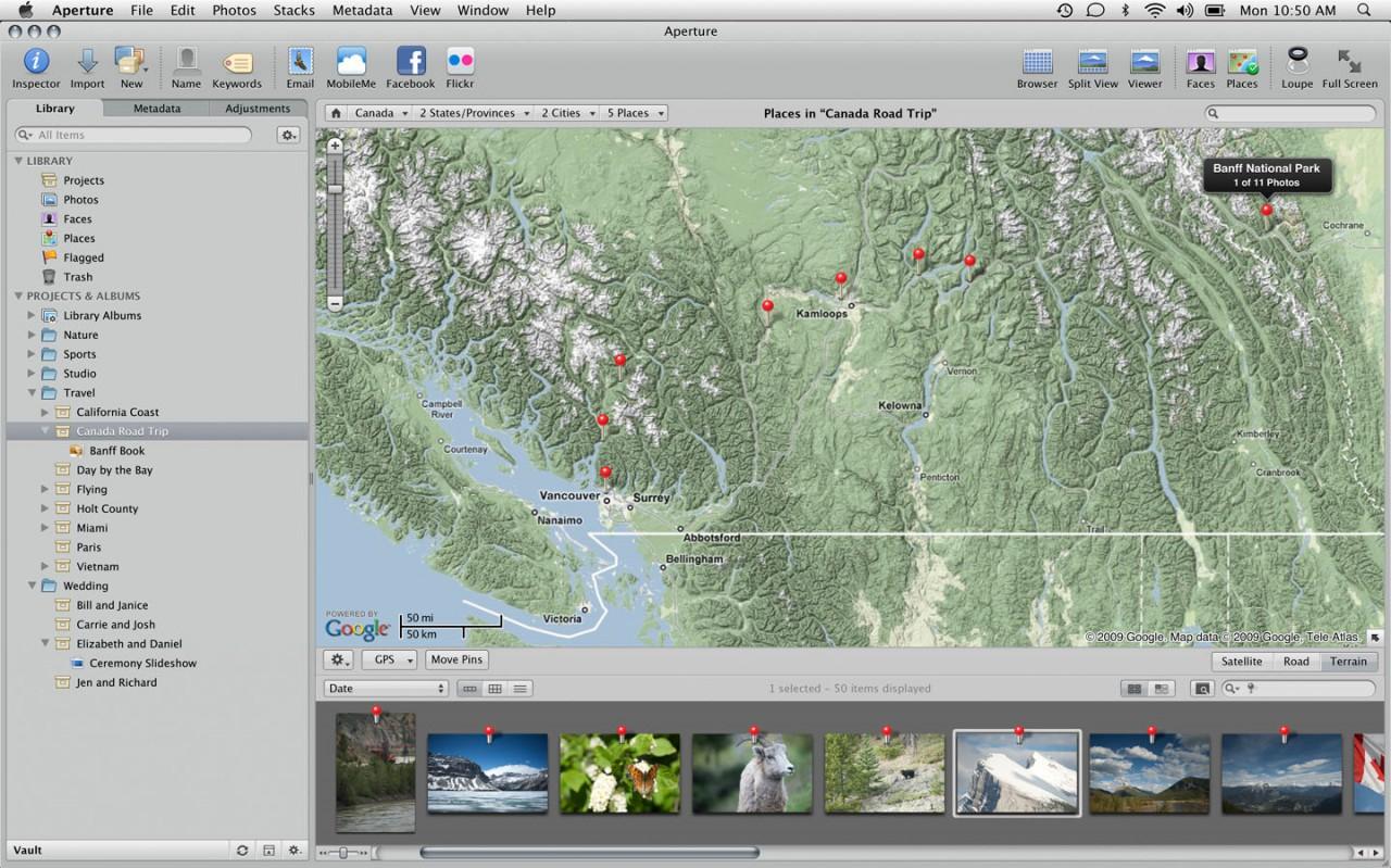 Aperture 3 lernt GPS, erkennt Gesichter und bekommt Pinsel - Aperture 3