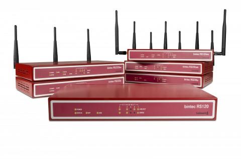 Funkwerks Bintec-Router der Serien RS120, RS230 und RS232 jeweils mit und ohne WLAN.